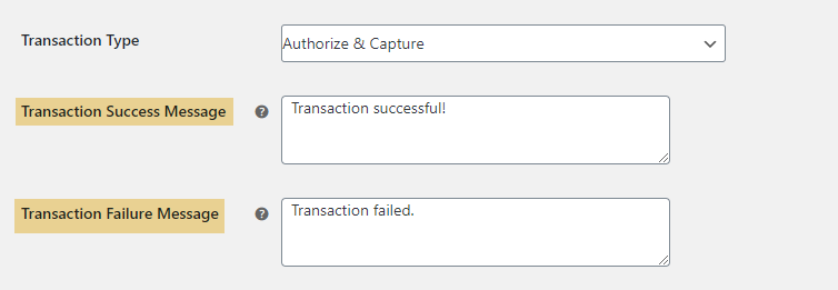 ELEX WooCommerce Authorize.net Plugin | Set Custom Message for Transaction Status