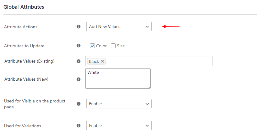 ELEX WooCommerce Advanced Bulk Edit Products, Prices & Attributes | Add, Remove or Overwrite Global Attribute Values in Bulk