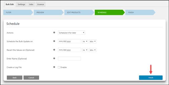 ELEX WooCommerce Advanced Bulk Edit Products | Schedule Jobs