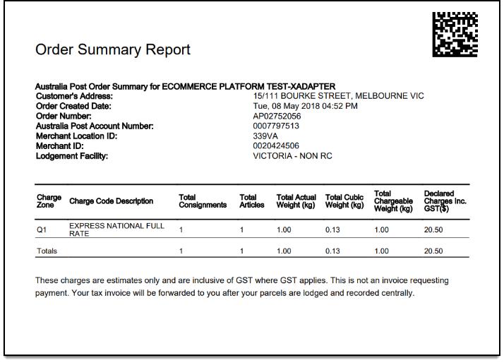 ELEX WooCommerce Australia Post Shipping | AusPost Order Summary/Manifest