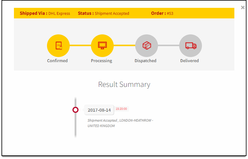 ELEX WooCommerce DHL Express Shipping | DHL Shipment Tracking Process