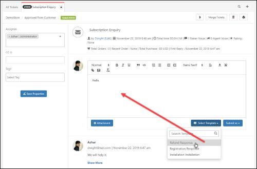 WSDesk - WordPress Helpdesk Plugin | Canned Responses