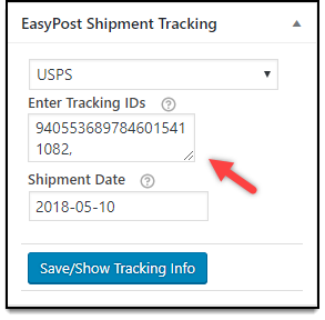 WooCommerce EasyPost Shipping Plugin | Shipment Tracking ID
