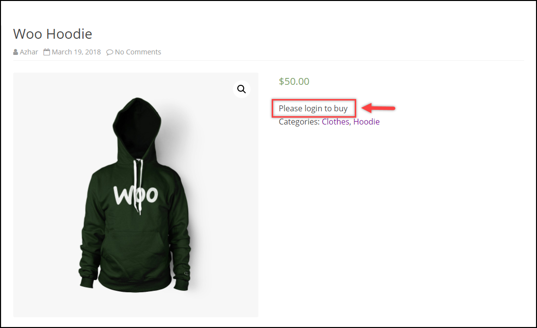 WooCommerce Remove Add to Cart   Add to Cart button removed