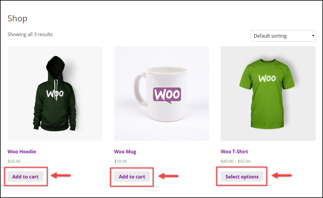WooCommerce Remove Add to Cart   Replace Add to Cart - Default Shop Page