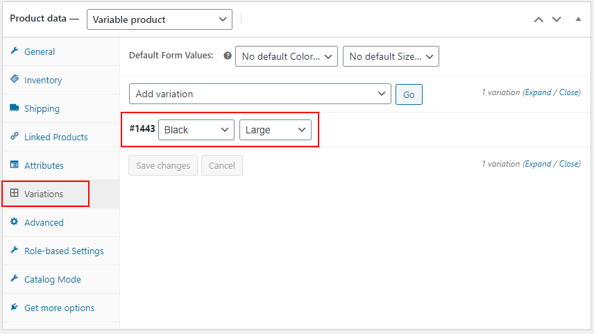 ELEX WooCommerce Advanced Bulk Edit Products, Prices & Attributes | Before enabling the option to create variation