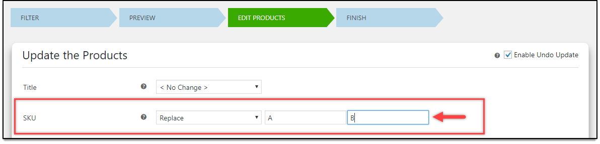 WooCommerce Bulk Edit Products | Updating Product SKU