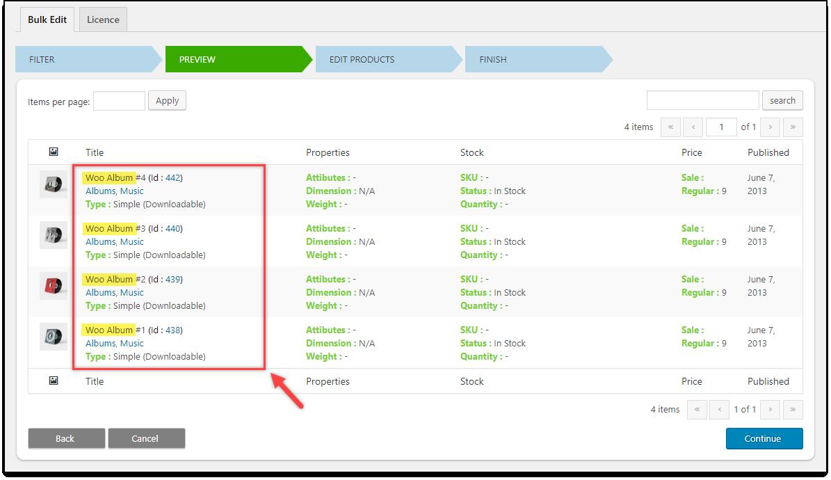 WooCommerce Bulk Edit Products using Regex | Woo Album filtered for a Bulk update