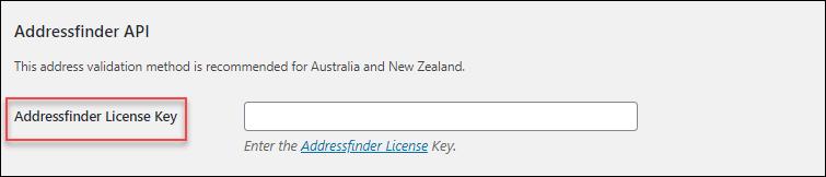 WooCommerce Address Validation | Addressfinder API