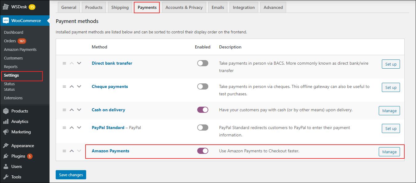 ELEX Amazon Pay WooCommerce Payment Gateway | Amazon Payment Navigation