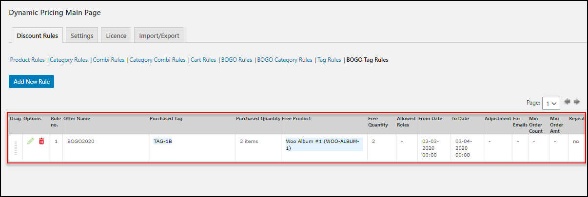 ELEX WooCommerce Dynamic Pricing and Discounts Plugin | Applying BOGO Tag Rule