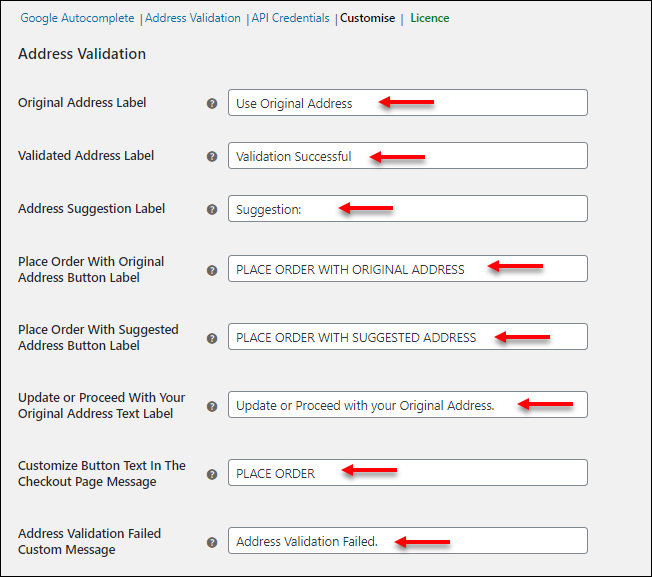 How to set up ELEX Address Validation & Google Address Autocomplete Plugin for WooCommerce? | Customise Label and Button Texts on Checkout-Page