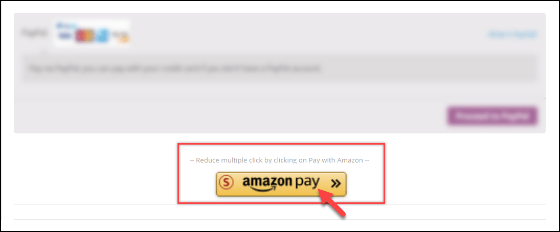 Amazon Payment Gateway Button
