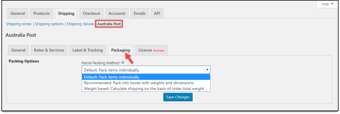WooCommerce Australia Post Plugin | Parcel Packaging
