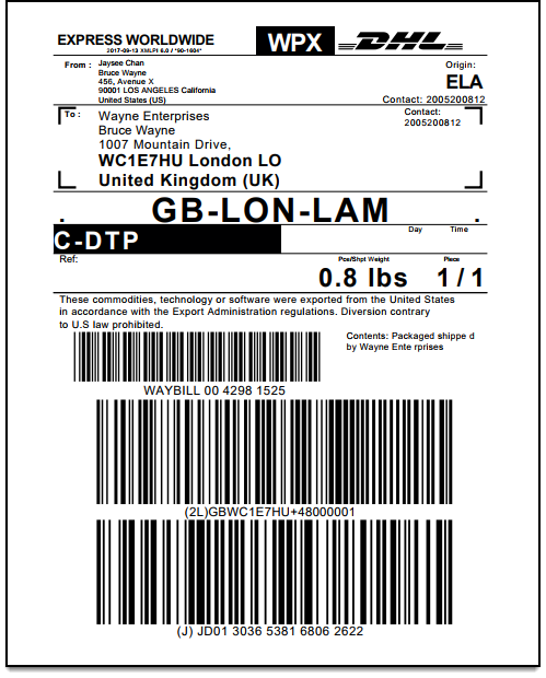 WooCommerce DHL Express | Shipping Return Label