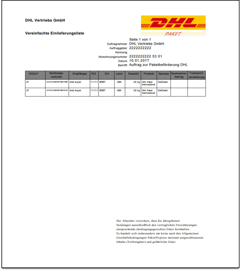 WooCommerce DHL Paket | Export Document