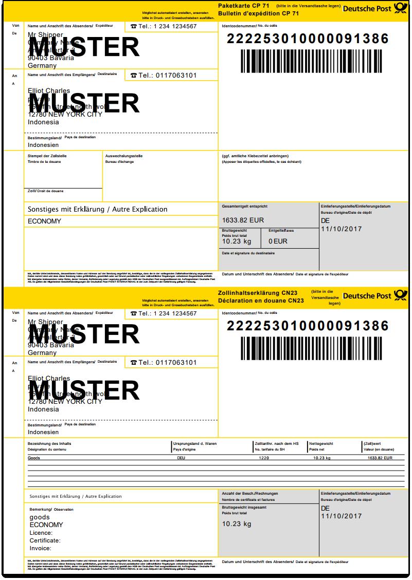 WooCommerce DHL Paket | Manifest