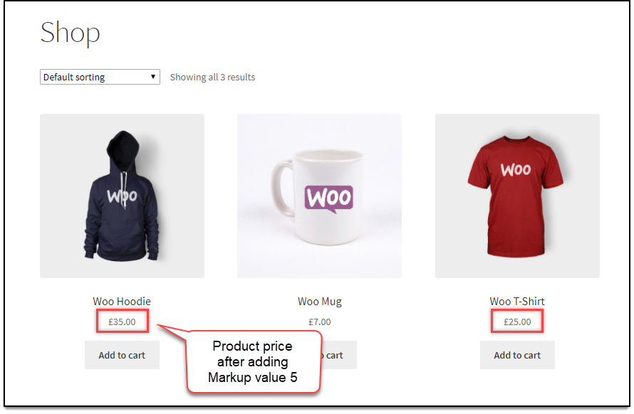 WooCommerce Price Adjustment | Discount applied to all products