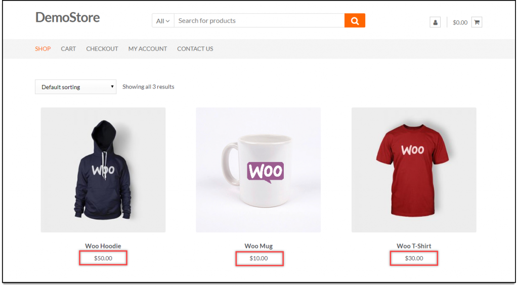 WooCommerce Price Adjustment   Initial product prices