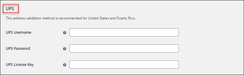 WooCommerce Address Validation | UPS Address Validation