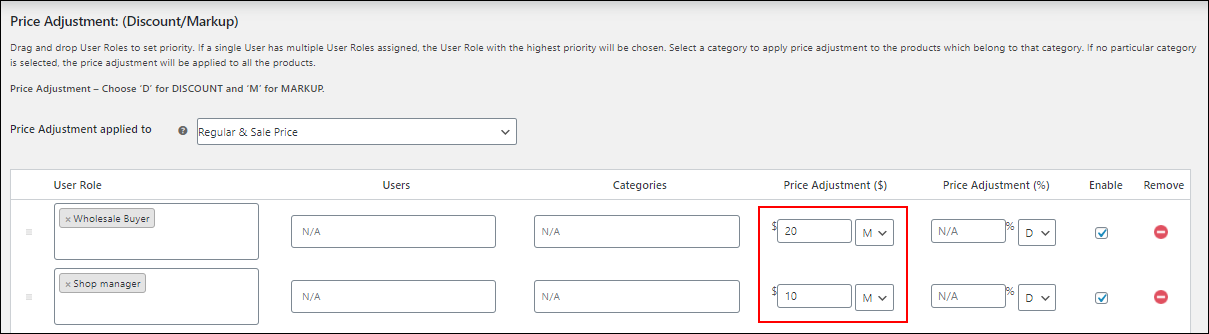 ELEX WooCommerce Catalog Mode, Wholesale & Role Based Pricing | Wholesale Buyer have higher priority than Shop managers