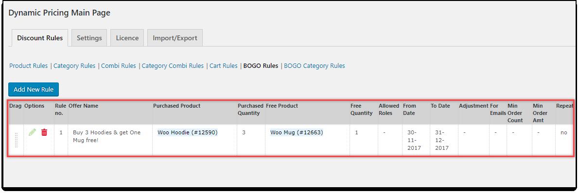 WooCommerce Dynamic Pricing & Discounts | Applying Buy One Get One Rule