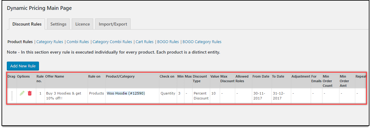WooCommerce Dynamic Pricing & Discounts | Applying Product Rule