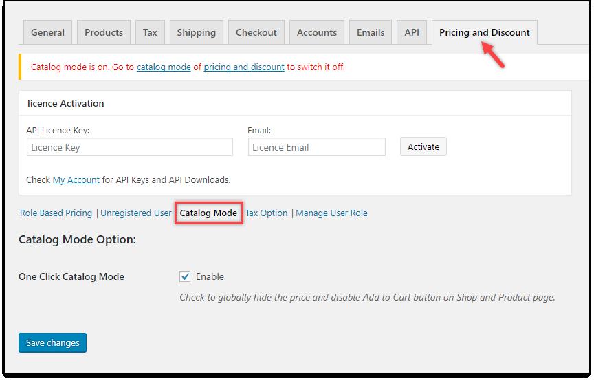 WooCommerce Catalog Mode | Catalog Mode settings