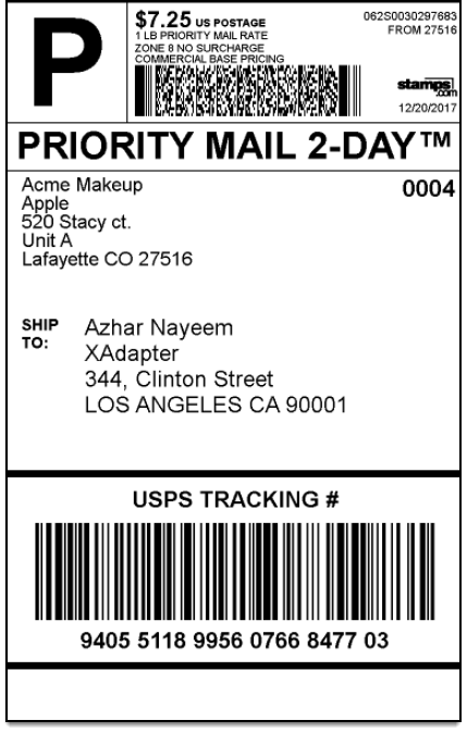 WooCommerce Stamps.com-USPS   Stamps.com Shipping Label