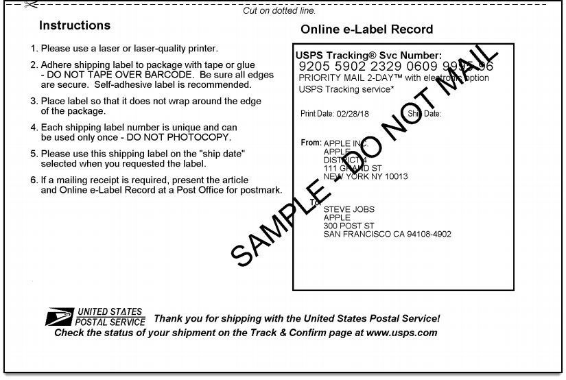 WooCommerce USPS Shipping | Online e-Label Record