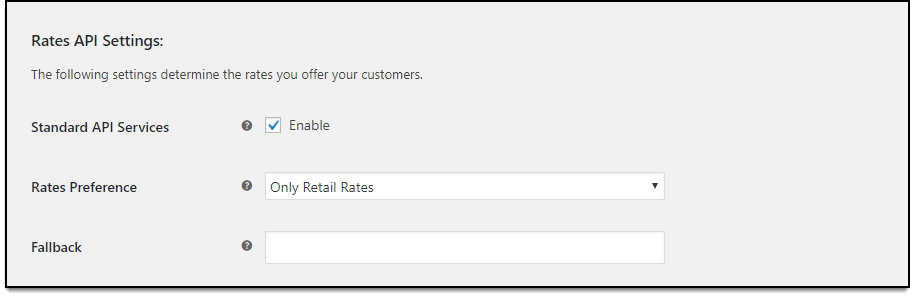 WooCommerce USPS Shipping | Rates API Settings