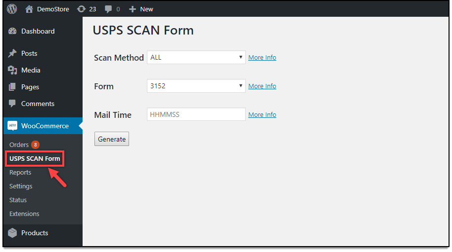 WooCommerce USPS Shipping | USPS SCAN Form settings