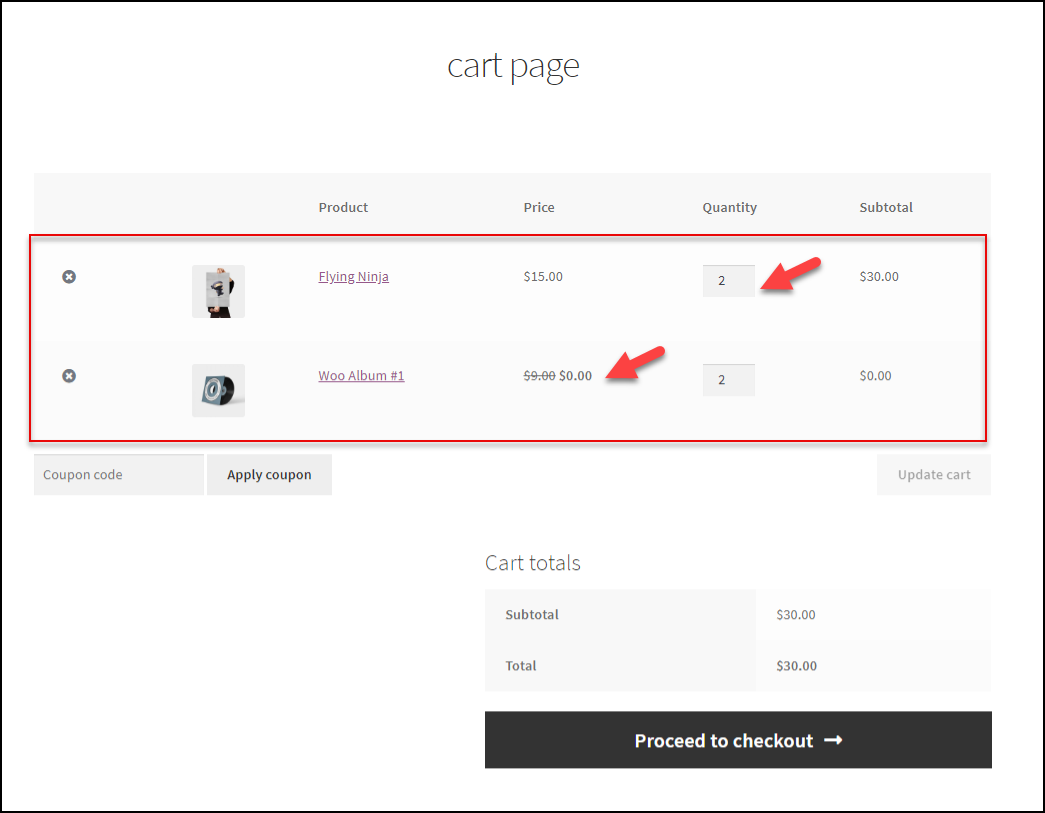 ELEX WooCommerce Dynamic Pricing and Discounts Plugin | Cart Page
