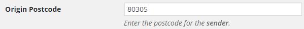 Origin Postcode