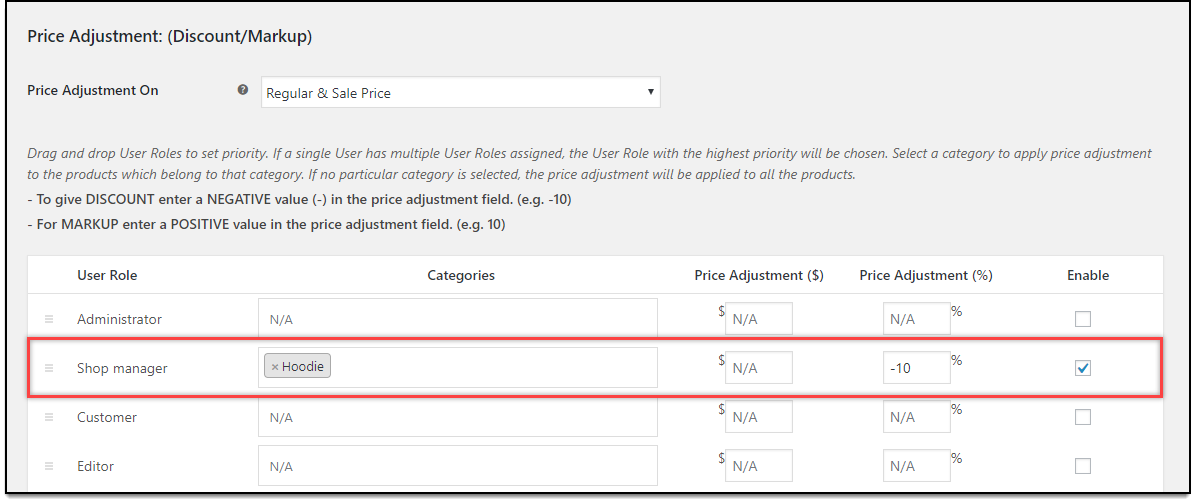 Divi - WooCommerce Catalog Mode | Price adjustment settings for Shop managers