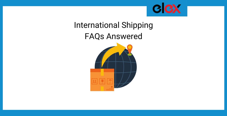 International Shipping FAQs Banner