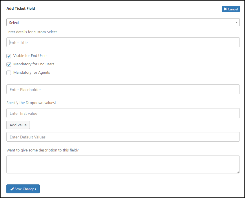 WordPress Helpdesk Plugin - WSDesk | Adding a Ticket Field
