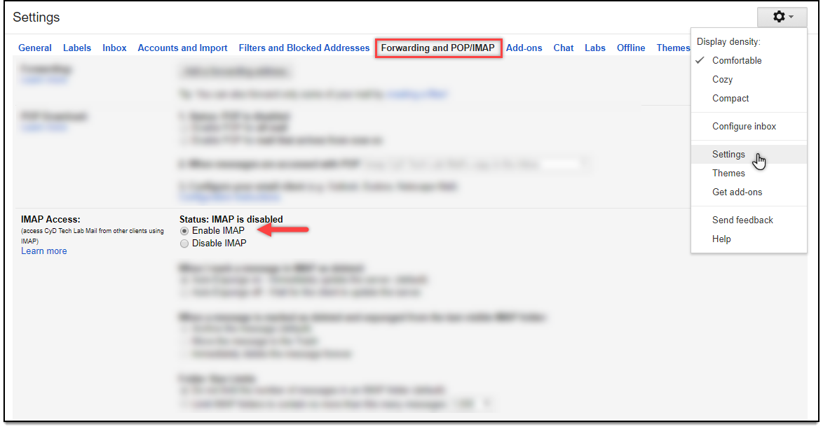 WSDesk HelpDesk | Enabling IMAP in Gmail