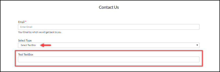 WSDesk   Conditional Drop-down   Selecting TextBox