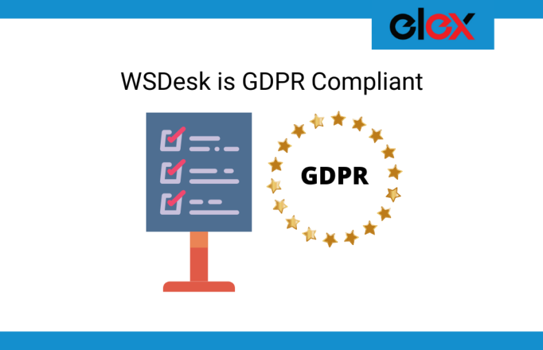 WSDesk is GDPR Compliant Banner