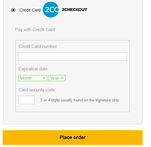 Process Checkout at ELEXtensions | Payment with 2Checkout
