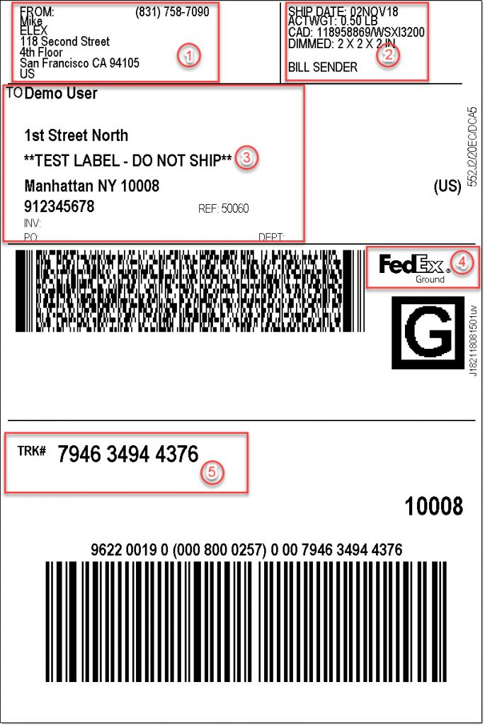 This is a photo of Irresistible Email Fedex Label to Customer