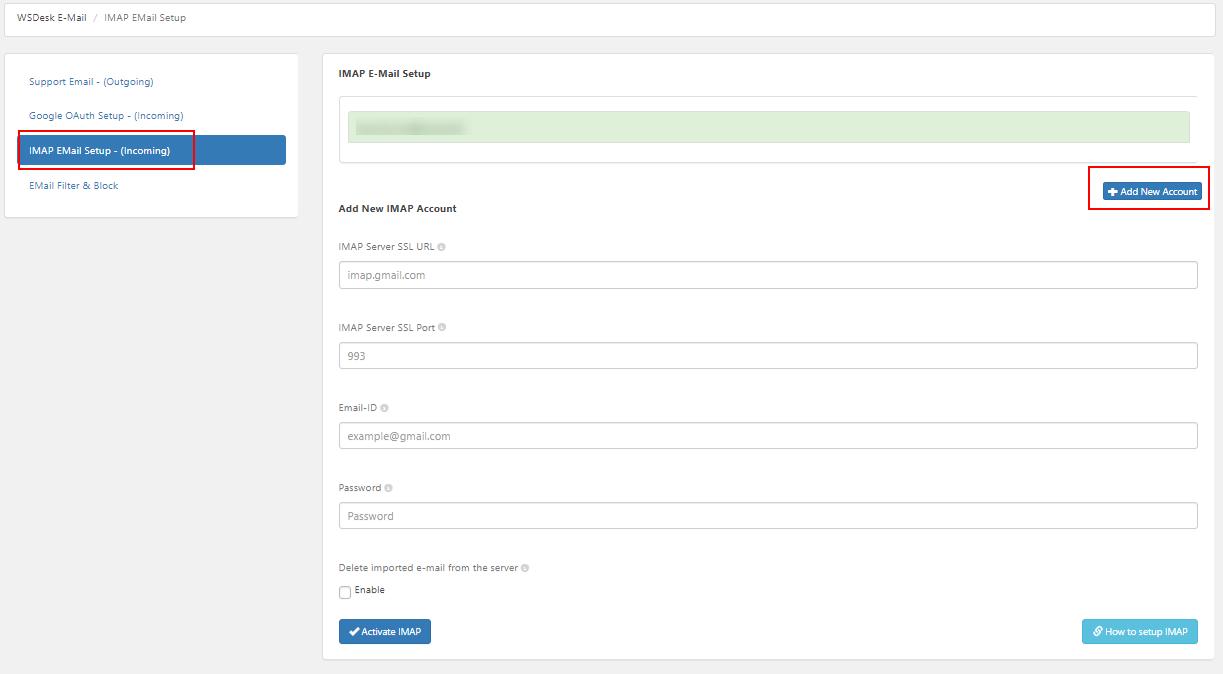 ELEX WordPress HelpDesk & Customer Ticketing System Free Version   Add Multiple IMAP Accounts