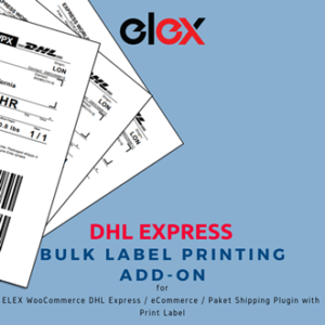 ELEX DHL Express Bulk Label Printing Add-On | Logo