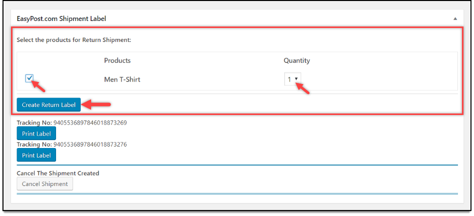 ELEX WooCommerce EasyPost Return Label Add-On | Create Return Label