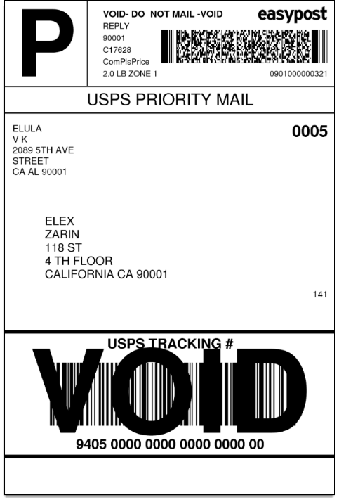 Usps Return Label >> How To Print Easypost Return Labels With Elex Woocommerce Easypost