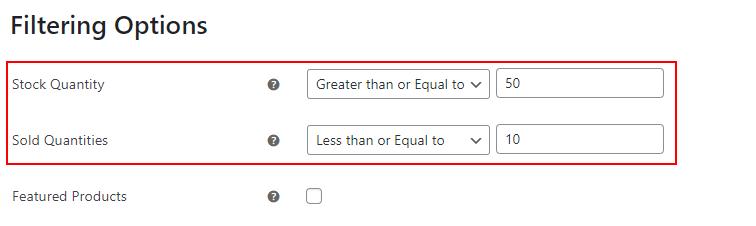 ELEX WooCommerce Google Shopping Plugin   Filtering options example