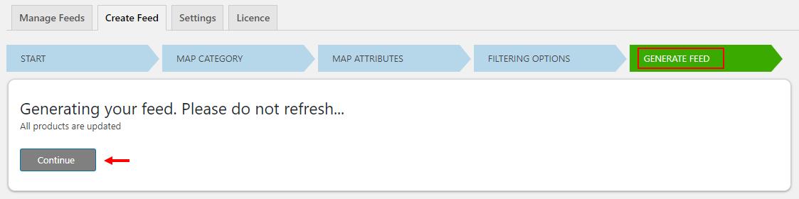 ELEX WooCommerce Google Shopping Plugin | Generate feed tab