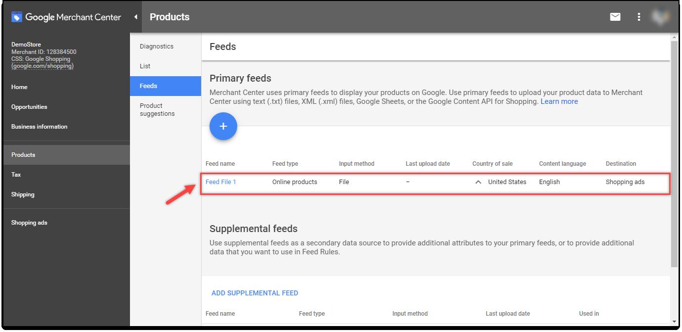 ELEX Google Product Feed plugin | Created Feed