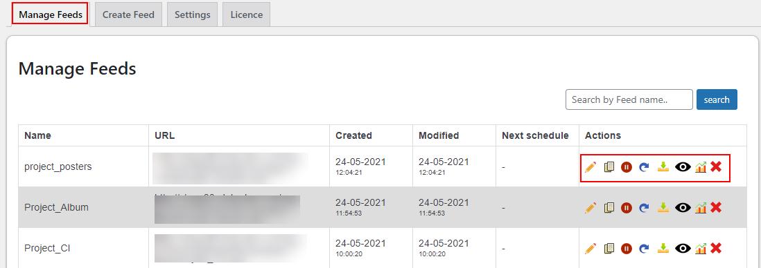 ELEX WooCommerce Google Shopping Plugin   Manage feeds tab